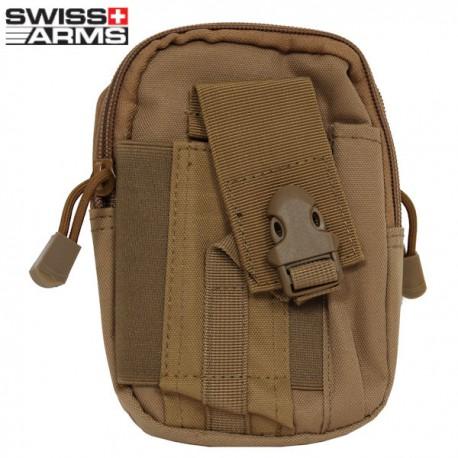 Pochette Tactique Attache Molle Tan Swiss Arms