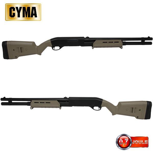 Vends un fusil à pompe cyma spring Fusil-a-pompe-m870-m-style-long-tactical-tan-multi-shot-st00069-airsoft