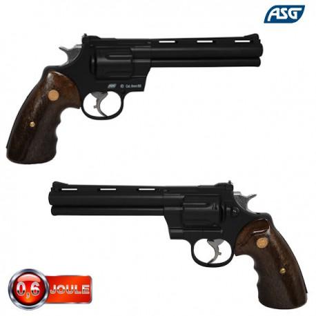 Revolver 357 à gaz barillet fixe noir