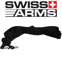 Sangle Cartouchière Noire Swiss Arms