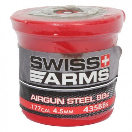 Biberon de 435 Billes (environ) Swiss Arms 4,5mm, 0,35grs en Acier
