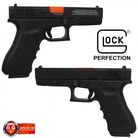 Glock 17 Inokatsu Blowback Métal Noir Gen3 Version Militaire SM&LE livré avec un Chargeur gaz et un Chargeur co2