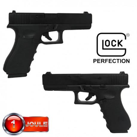 Glock 17  Blowback Culasse Métal Noir Gen4