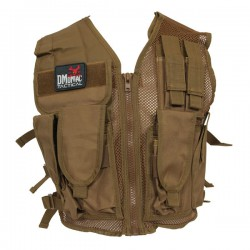 Veste Tactique Recon DMoniac Tan 6 Poches + Holster