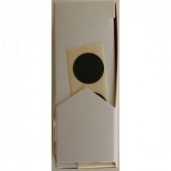 Disques autocollants diamètre 15 mm noir en boîte distributrice (unité)X1000