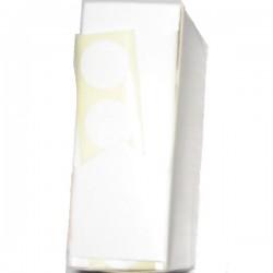 Disques autocollants diamètre 15 mm blancs en boîte distributrice (unité)X1000