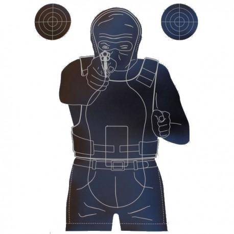 Cible format Fond Noir 50x70 carton, pour tir rapide vendue à l'unité