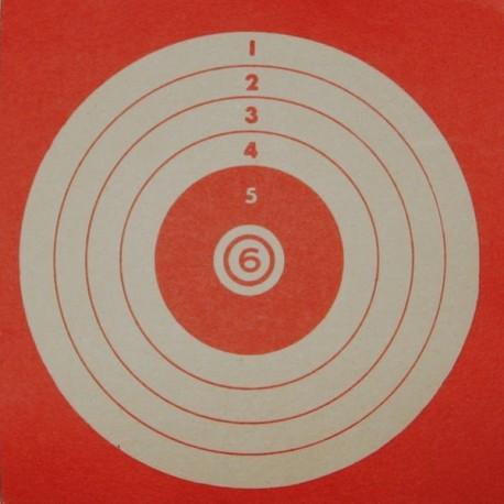 Tir forain fond rouge format 10x10 carton (x50)