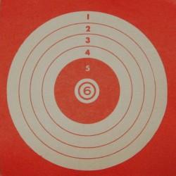 Cible Tir forain fond rouge format 10x10 carton (x50 unités)