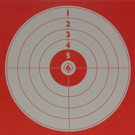 Tir forain fond rouge format 14x14 carton (x100)
