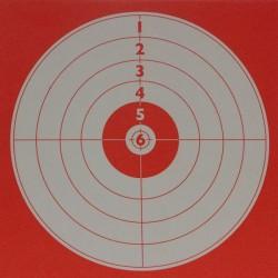 Cible Tir forain fond rouge format 14x14 carton (x10 unités)