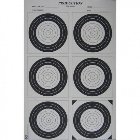 Cible Carton Tir sur Appui Format 50x75 (vendue à l'unité)