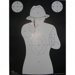 Cible format 50x70 carton, pour tir rapide vendue à l'unité