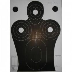 Cible format 50x70 carton, pour tir rapide 6, 12, 25m vendue à l'unité