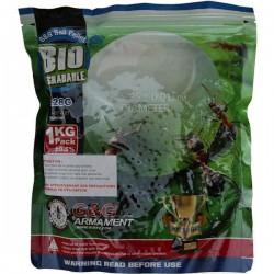 3570 billes blanches 0,28gr compétition G&G  biodégradables