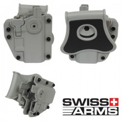 Holster Multi Angles Universel Ambidextre Swiss Arms Adapt-X Level 2 Urban Grey