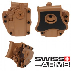 Holster Multi Angles Universel Ambidextre Swiss Arms Adapt-X Level 3 pink