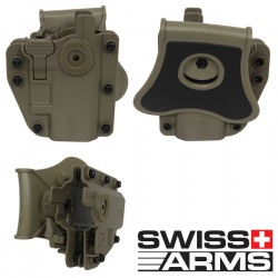 Holster Multi Angles Universel Ambidextre Swiss Arms Adapt-X Level 3 Coyote