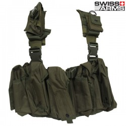 Harnais Tactique 10 Poches Swiss Arms OD Green