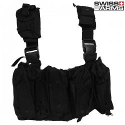 Harnais Tactique 10 Poches Swiss Arms Noir