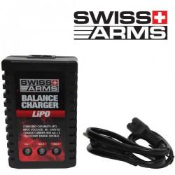 Chargeur de Batterie LiPo LiFe NiMh NiCd à Coupure Automatique et Témoins Lumineux Swiss Arms