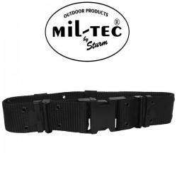 Ceinturon Porte Accessoires Noir Réglable Clips Rapide 55mm Miltec
