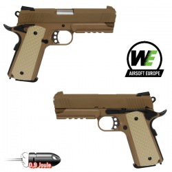 WE Desert Warrior 4.3 Tan BlowBack, Full Métal