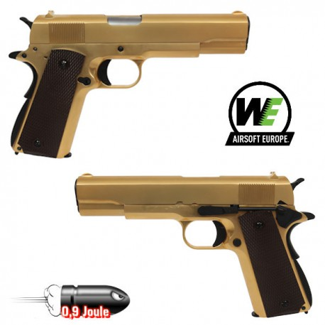1911a1 WE Gold Edition Limitée Blowback Full Métal