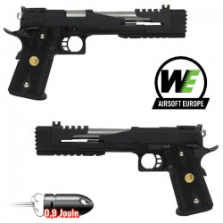 Pistolet WE Black Dragon A Hi-Capa 7.0 Noir Blowback Full Métal