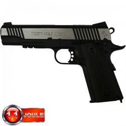Colt 1911 A1 Rail Gun Series, Bicolore, Blowback (Culasse Mobile), Full Métal