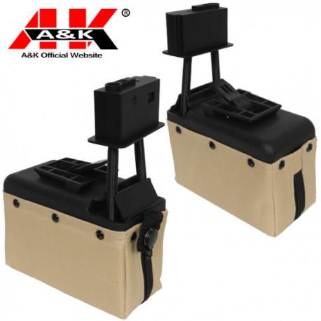 Amobox Electrique A&K Tan 1500 Billes pour M249