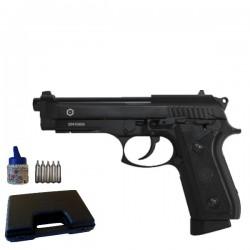 Pack PT92 Blowback Full Métal Noir Semi et Automatique