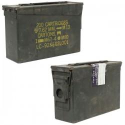 Caisse de Munitions D'occasion US Métal Cal.50/5.56 28x28x14cm