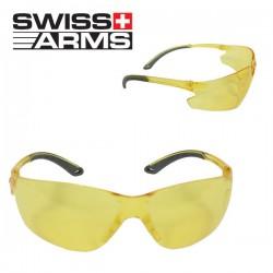 Lunettes Swiss Arms de Protection Jaune Légère Anti-buée