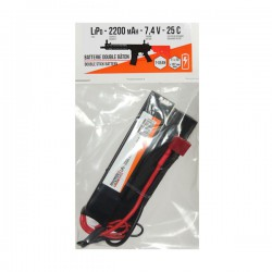 Batterie LiPo 7,4v 1100maH 25C T-Dean Double Stick Swiss Arms