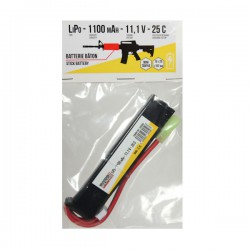 Batterie LiPo 11,1v 1100maH 25C Mini Tamiya Swiss Arms