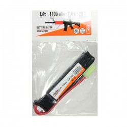 Batterie LiPo Stick 7,4v 1100 maH 25C Mini Tamyia Swiss Arms