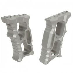 Grip Aluminium Silver pour M-Lock et KeyMod avec Visserie