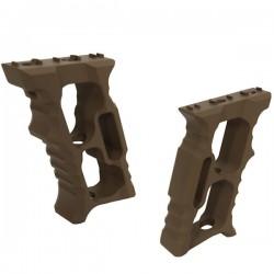 Grip Aluminium Tan pour M-Lock et KeyMod avec Visserie