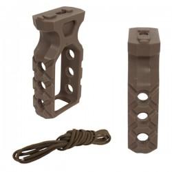 Grip Tactical PTG Paracord Tan pour M-Lock et KeyMod avec Visserie