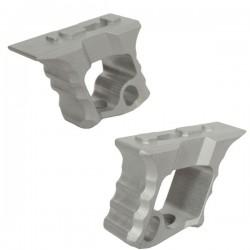 Grip TD Halo AR-15 Hand Stop Silver pour M-Lock et KeyMod avec Visserie