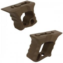 Grip TD Halo AR-15 Hand Stop Tan pour M-Lock et KeyMod avec Visserie