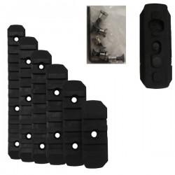 Set de 6 Rails Keymod Noir avec Visserie