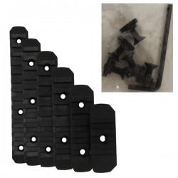 Set de 6 Rails M-Lock Noir avec Visserie