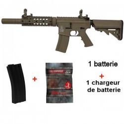 Colt M4 Silent Ops Tan Full Métal + 1 chargeur supplémentaire + 4000 Billes 0,25grs