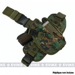 Holster de Cuisse Digital Woodland Tactique à Tirage rapide avec Panneau de Jambe tombante Special Force Matrix