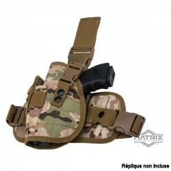 Holster de Cuisse Multicamo Tactique à Tirage rapide avec Panneau de Jambe tombante Special Force Matrix