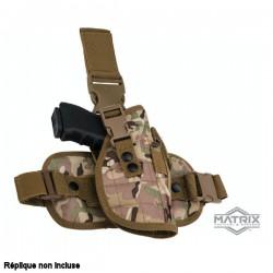 Holster de Cuisse Digtal Multicamo Tactique à Tirage rapide avec Panneau de Jambe tombante Special Force Matrix