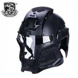 Casque de Déguisement Iron Warrior Noir S&T