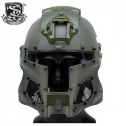 Casque de Déguisement Iron Warrior OD S&T